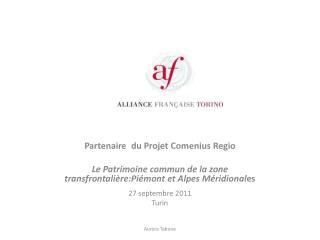 Partenaire du Projet Comenius  Regio