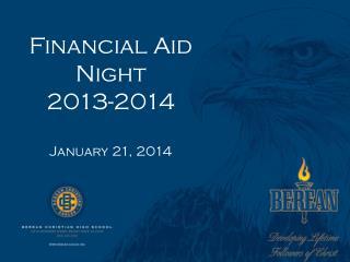 Financial Aid Night 2013-2014