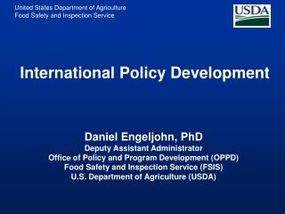 International Policy Development