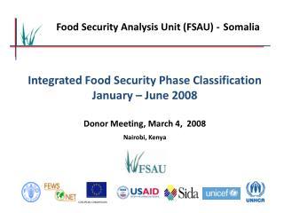 Food Security Analysis Unit (FSAU) - Somalia