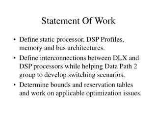 Statement Of Work