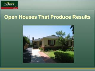 Open Houses That Produce Results