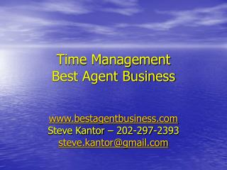 Time Management Best Agent Business