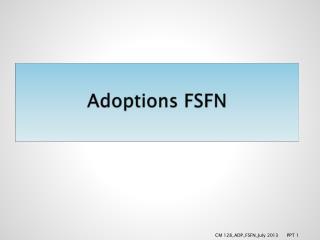 Adoptions FSFN