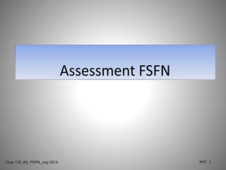 Assessment FSFN