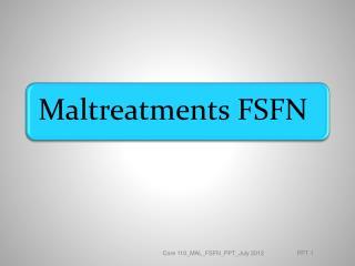 Module 1:  FSFN Intakes  Objectives