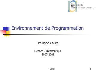 Environnement de Programmation