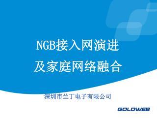 NGB 接入网演进 及家庭网络融合 深圳市兰丁电子有限公司