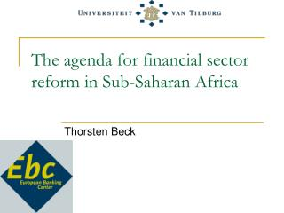 The agenda for financial sector reform in Sub-Saharan Africa