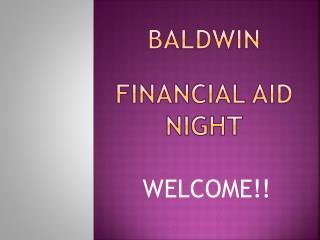 Baldwin Financial Aid Night