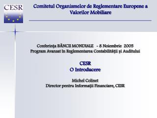 Comitetul Organismelor de Reglementare Europene a Valorilor Mobiliare