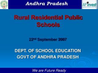Rural Residential Public Schools