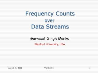 Frequency Counts over               Data Streams