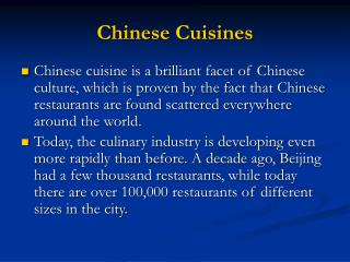 Chinese Cuisines