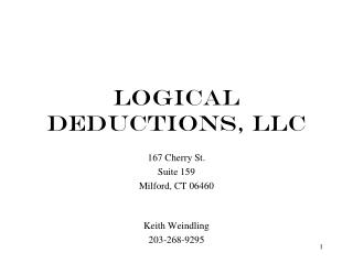 LOGICAL DEDUCTIONS, LLC