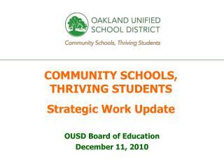 OUSD Board of Education December 11, 2010