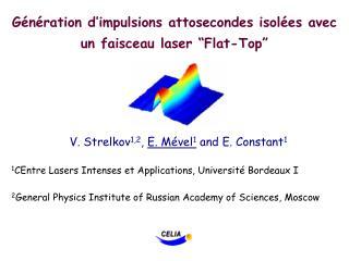 """Génération d'impulsions attosecondes isolées avec un faisceau laser """"Flat-Top"""""""