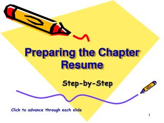 Preparing the Chapter Resume