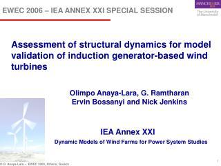EWEC 2006 – IEA ANNEX XXI SPECIAL SESSION