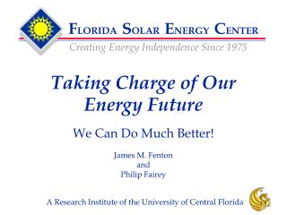 Taking Charge of Our Energy Future