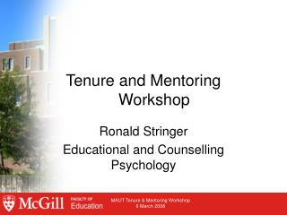 Tenure and Mentoring  Workshop