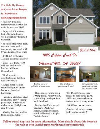1420 Copper Creek Dr Pleasant Hill, IA  50327