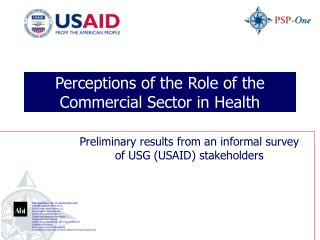 Perceptions of the Role of the Commercial Sector in Health