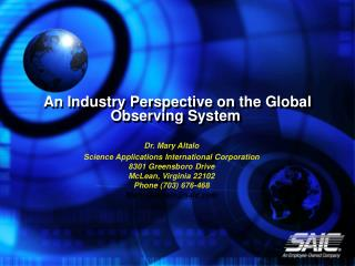 An Industry Perspective on the Global Observing System