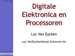 Digitale Elektronica en Processoren