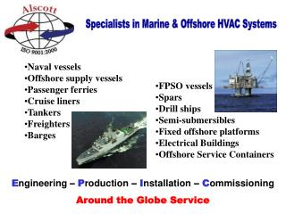 Specialists in Marine & Offshore HVAC Systems