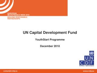 UN Capital Development Fund YouthStart Programme December 2010