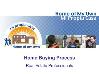 Home Buying Process Real Estate Professionals