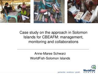Anne-Maree Schwarz WorldFish-Solomon Islands