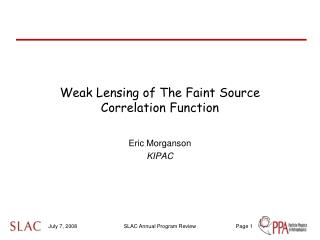 Weak Lensing of The Faint Source Correlation Function