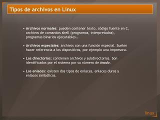 Tipos de archivos en Linux
