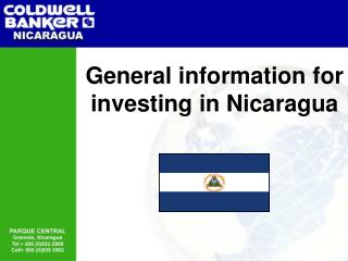General information for investing in Nicaragua