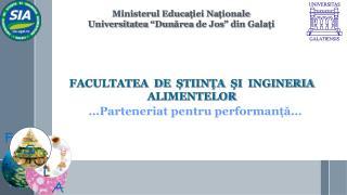 … Parteneriat pentru performanță …