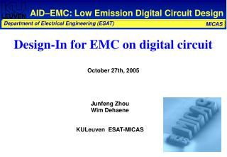 AID–EMC: Low Emission Digital Circuit Design