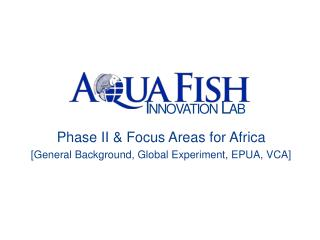 Phase II & Focus Areas for Africa [General Background, Global Experiment, EPUA, VCA]
