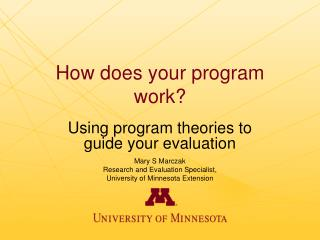 How does your program work?