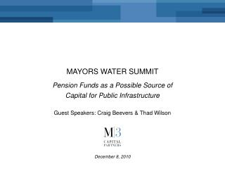 Mayors water summit