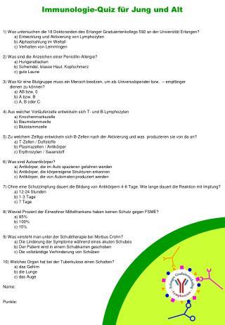 Immunologie-Quiz für Jung und Alt