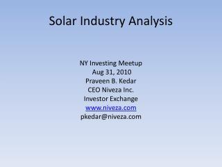 Solar Industry Analysis