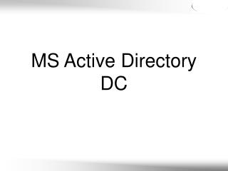 MS Active Directory DC
