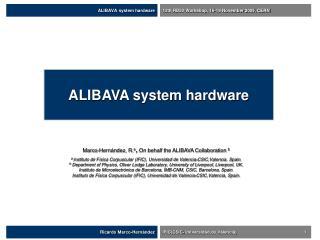 ALIBAVA system hardware