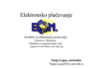 Elektronsko plačevanje