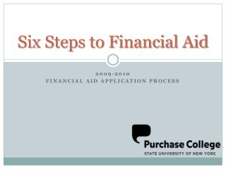 Six Steps to Financial Aid