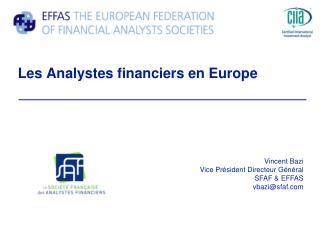Les Analystes financiers en Europe