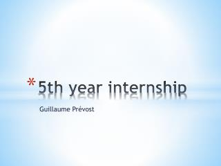 5th year internship