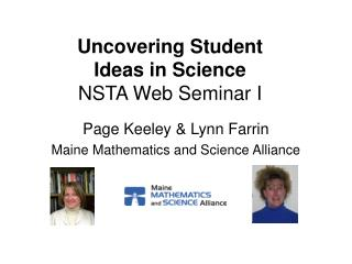 Uncovering Student  Ideas in Science NSTA Web Seminar I